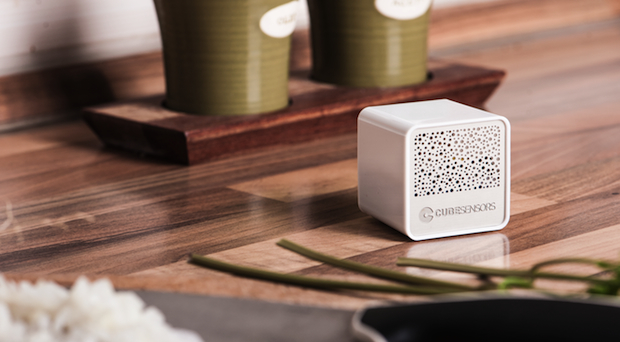 CubeSensors monitoring air quality in the kitchen