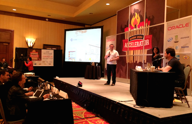 CubeSensors pitching at SXSW Accelerator 2014