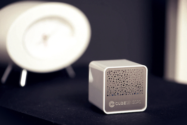 CubeSensors on the night stand