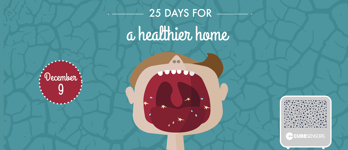 25 days for a healthier home: avoid dry air in your bedroom
