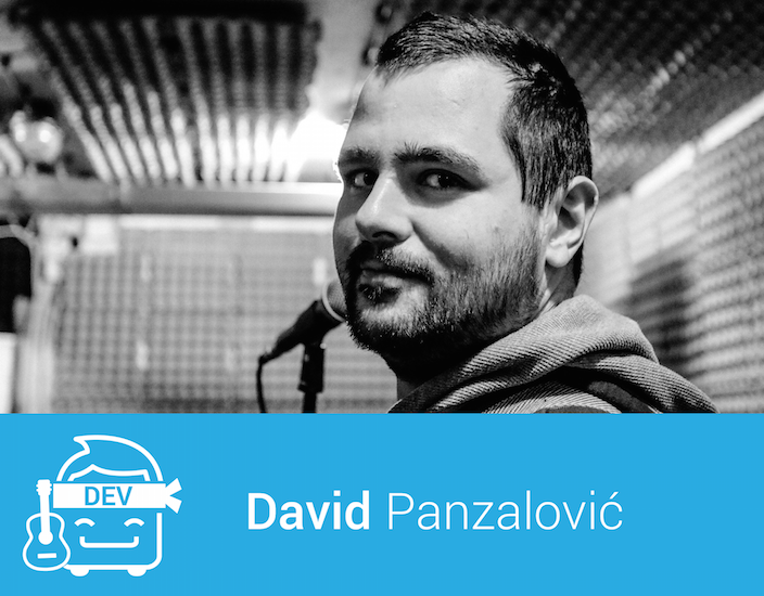 David Panzalović, front-end developer at CubeSensors