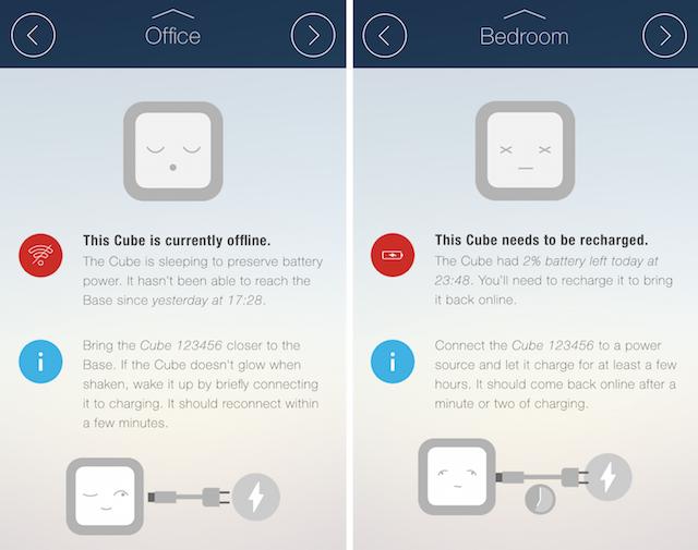 CubeSensors web app offline notifications