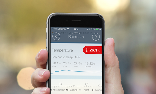 Checking your home's temperature in CubeSensors web app
